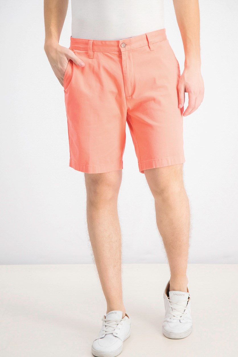Men's Stretch Classic-Fit Deck Shorts, Pale Coral