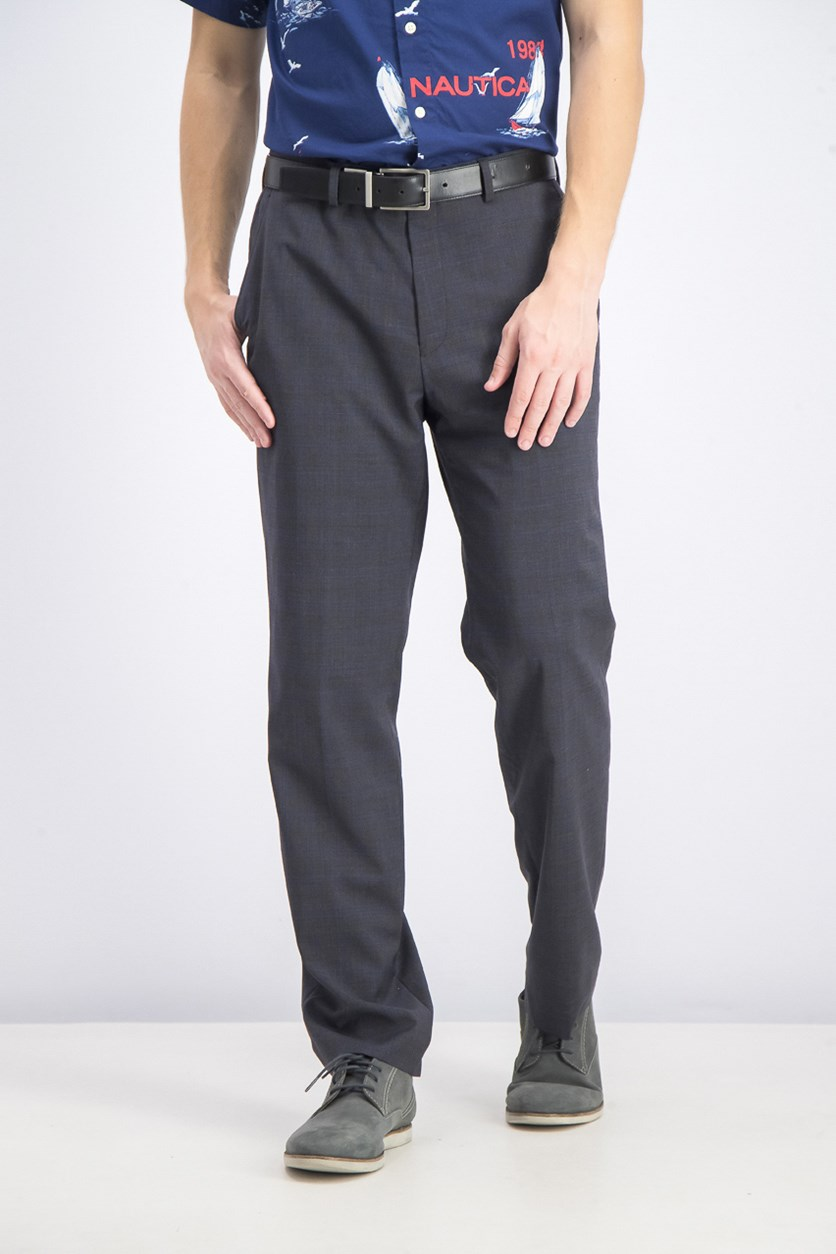 Men's Classic-Fit Stretch Solid Suit Pants, Grey