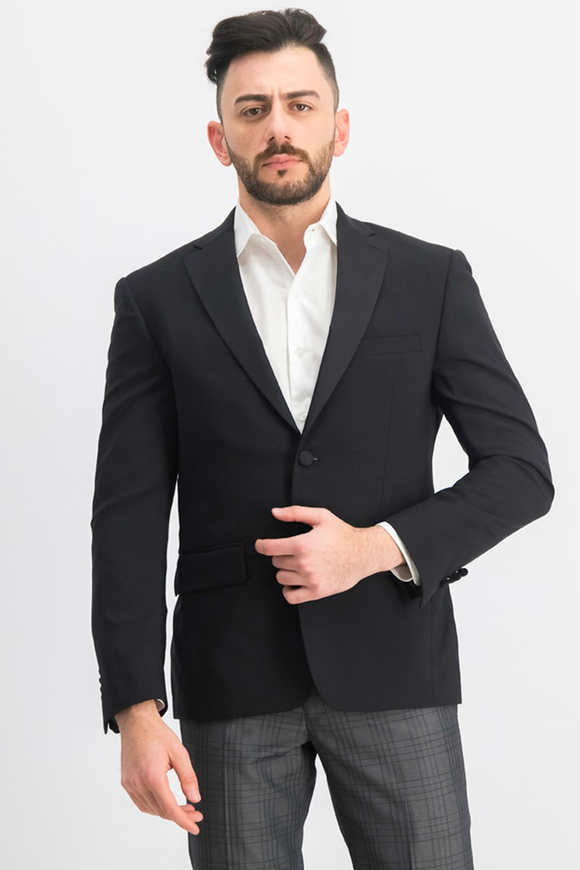 Men's Slim-Fit Tuxedo Suit Jacket, Black