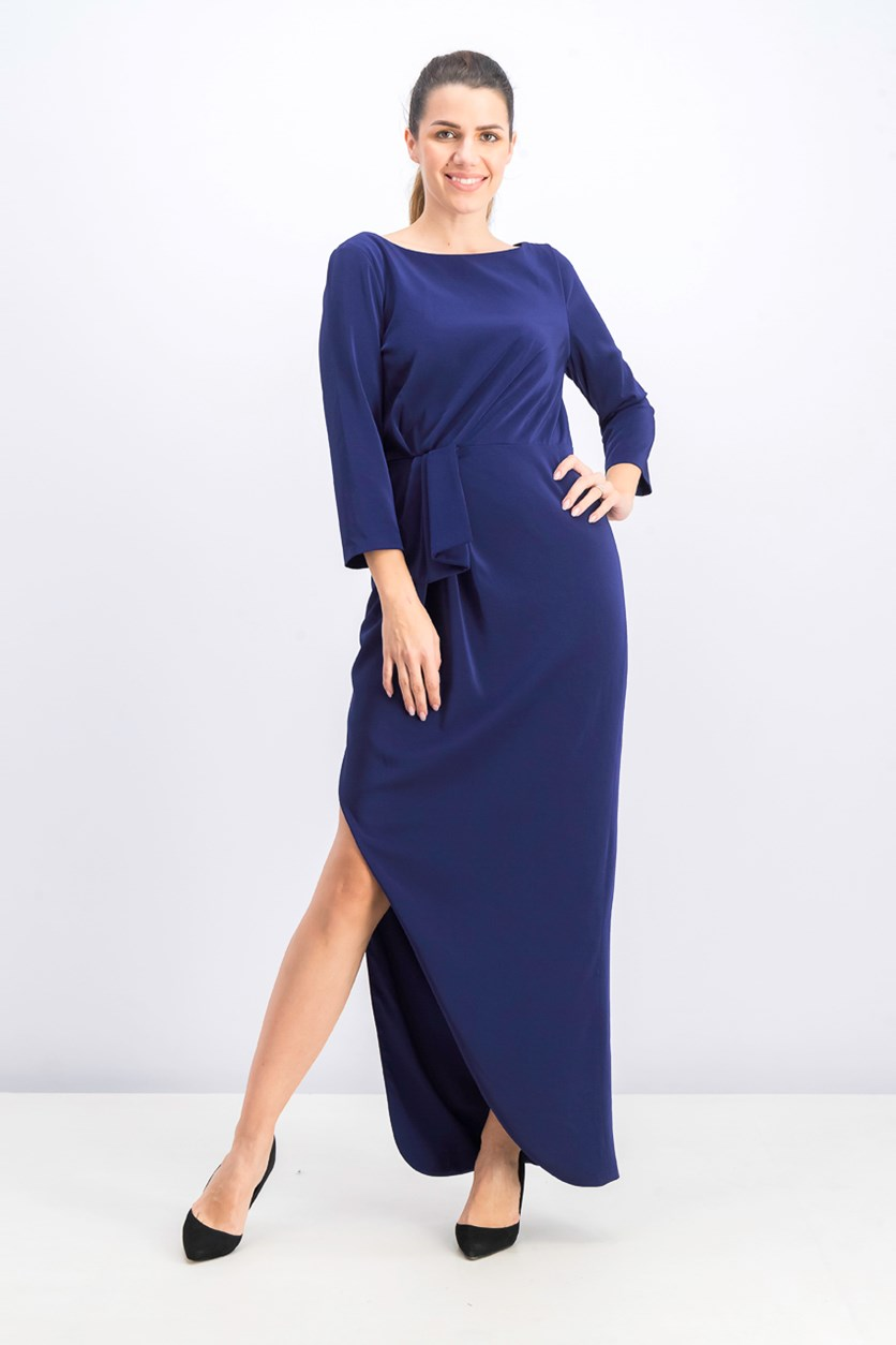 Women's 3/4 Sleeve Gown, Godless Blue