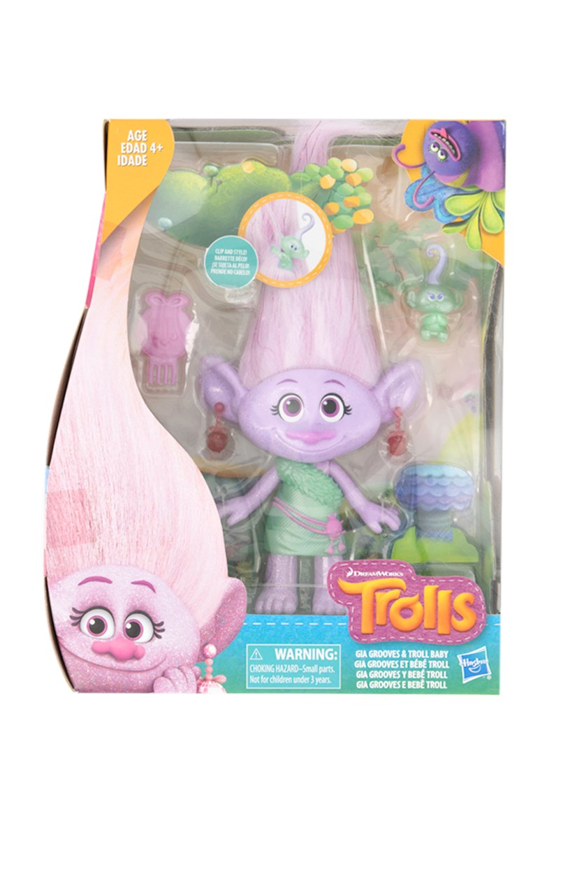 Medium Hair Play Doll, Purple/Mint