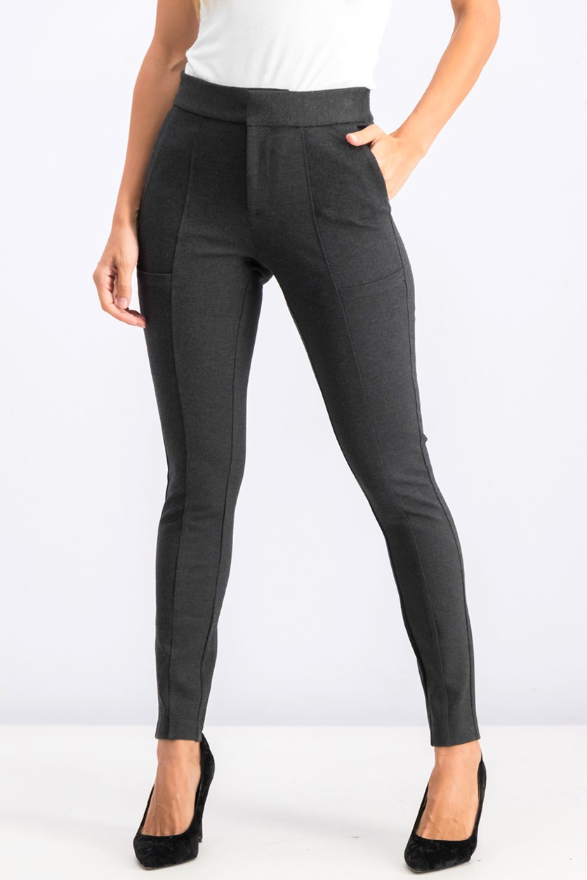 Women's The Flex Commute Straight-Leg Pants, Charcoal