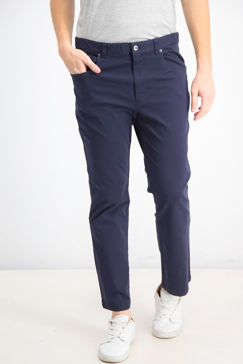 Men's Straight-Fit Stretch Pants, Navy
