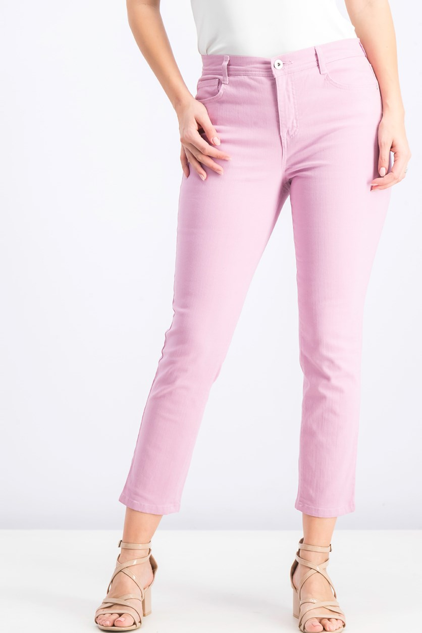 Petite Tummy-Control Slim-Leg Jeans, French Orchid