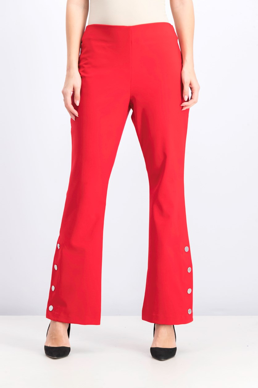 Women's High Rise Bootcut Pants, Real Red