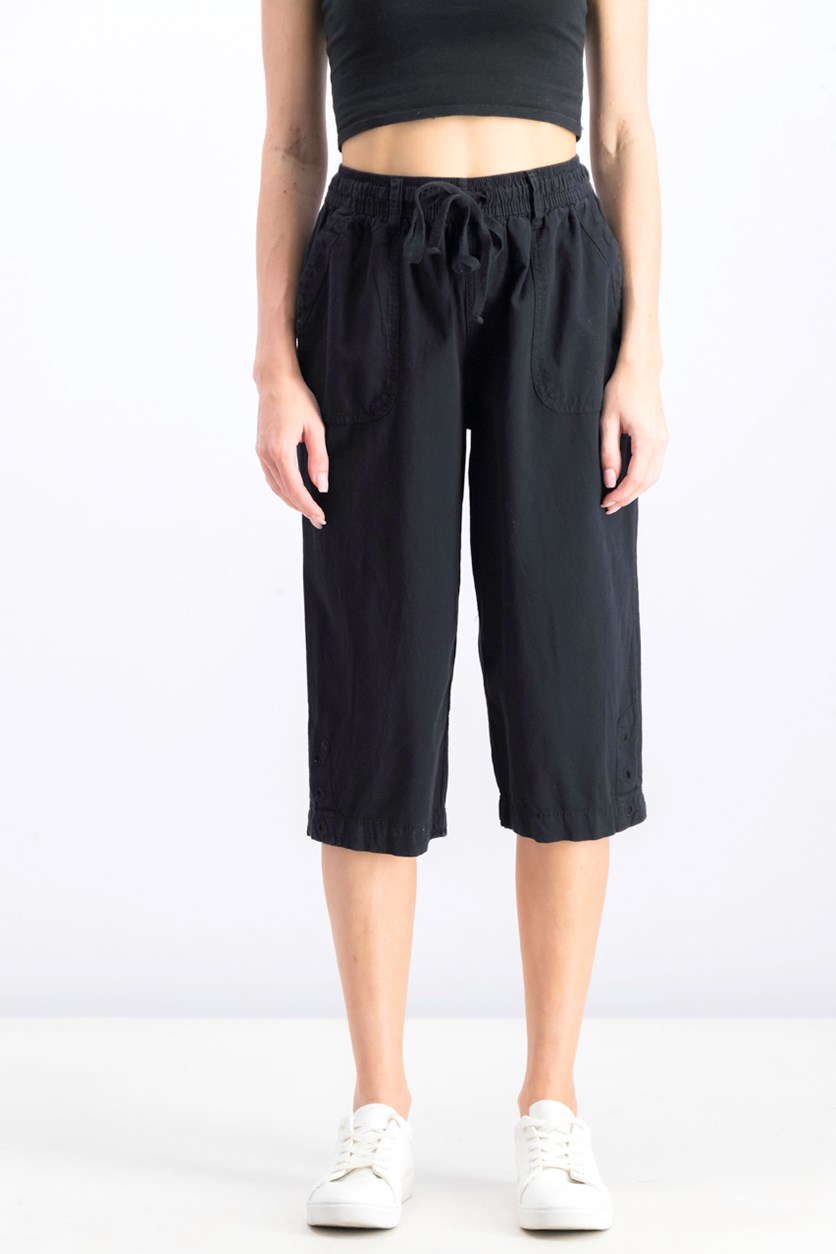 Women's Cropped Pants, Black