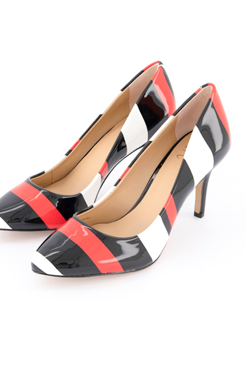 Women's Zitah Pointed Toe Pumps, Black/Red/White