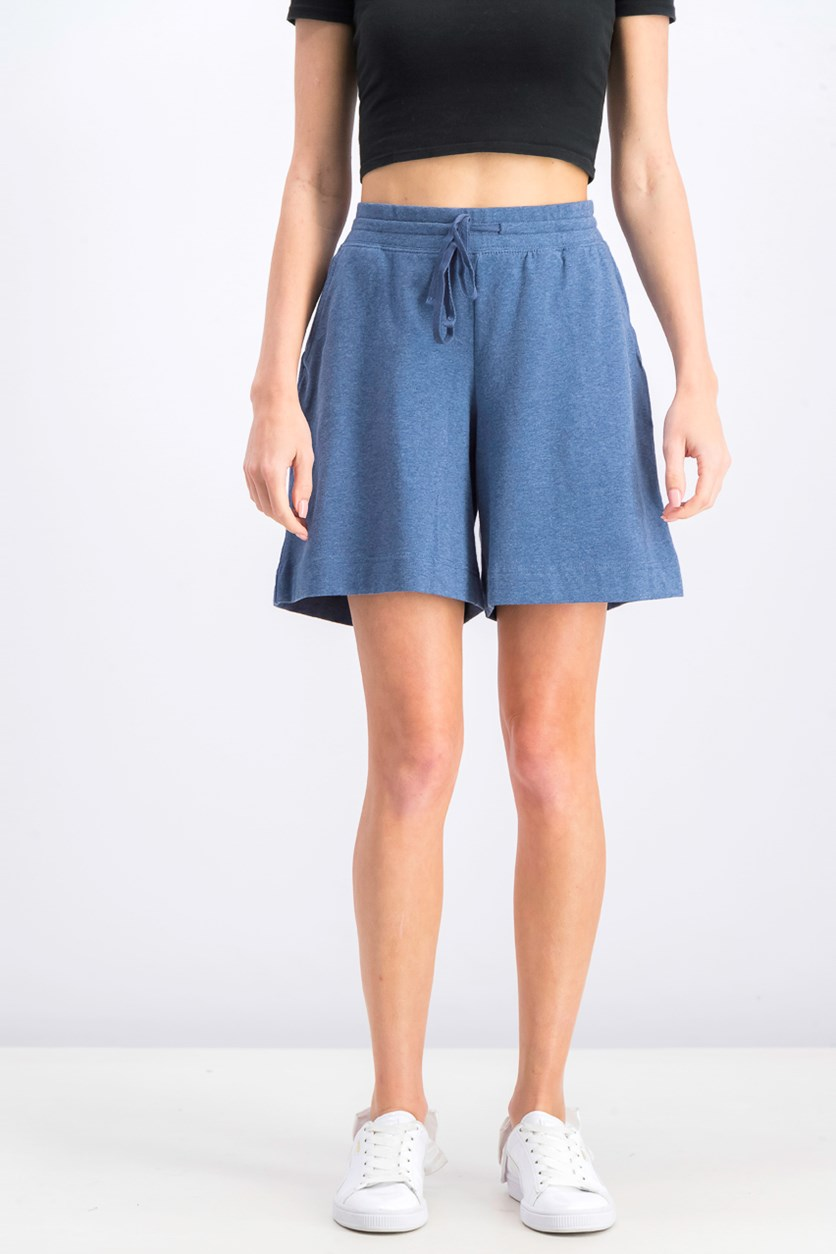 Women's Knit Drawstring Shorts, Heather Indigo