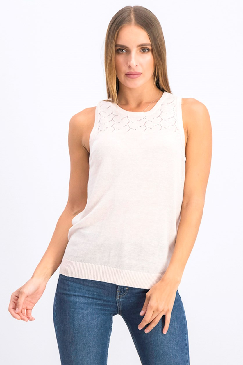Women's Lexi Linen Knit Tank Top, Light Pink