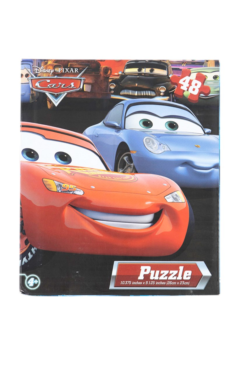 48 Pieces Puzzle Cars, Red/Blue