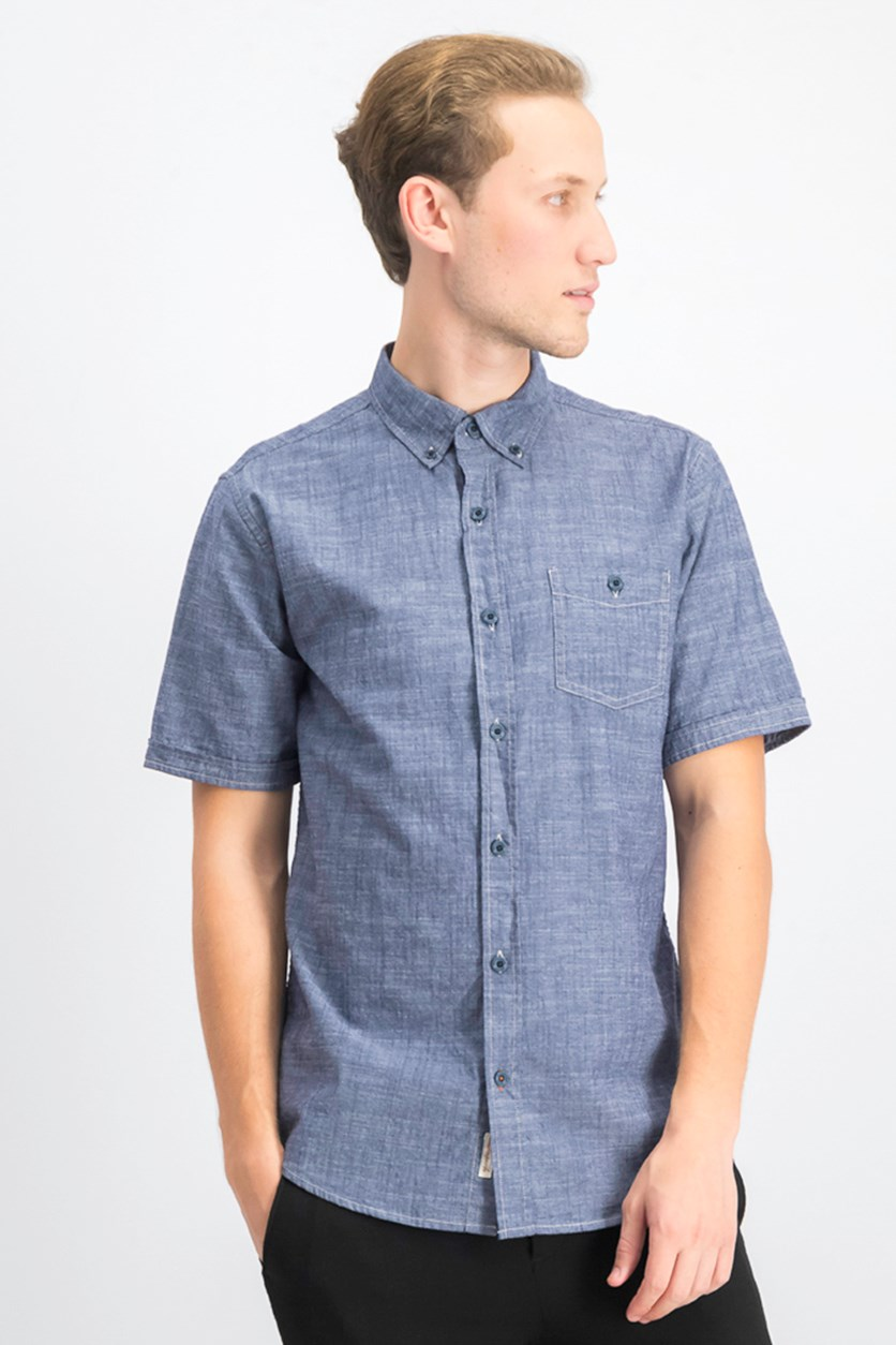 Men's Pocket Shirt, Maritime Blue