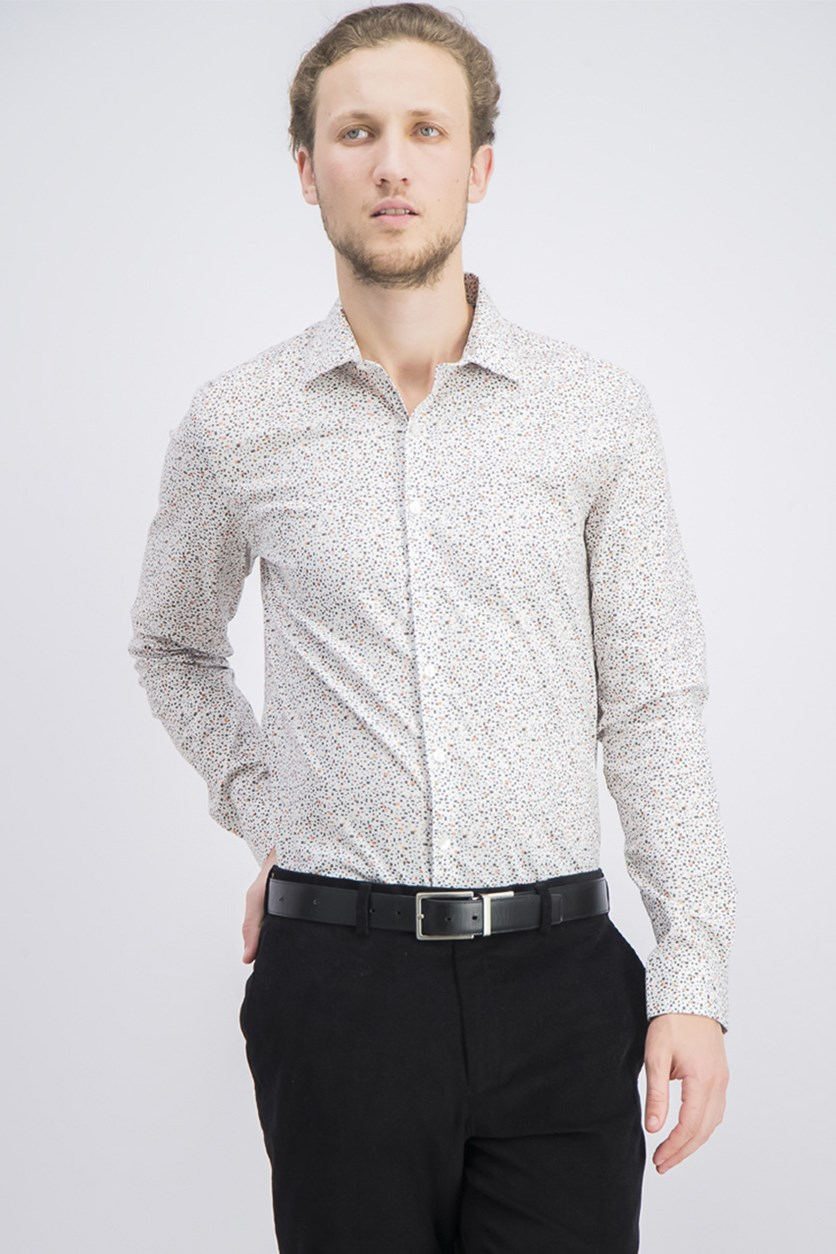 Men's Slim-Fit Graphic Shirt, Oyster