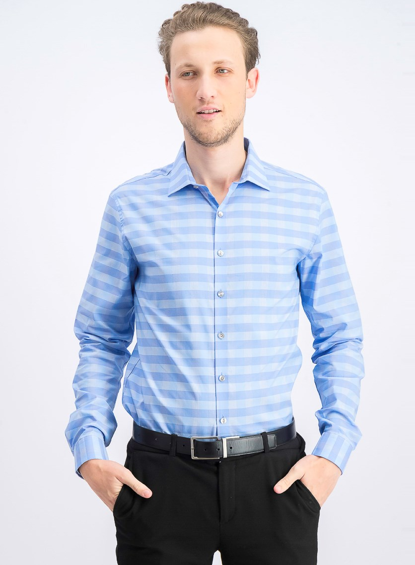Men's Slim Fit Dress Shirt, Lake