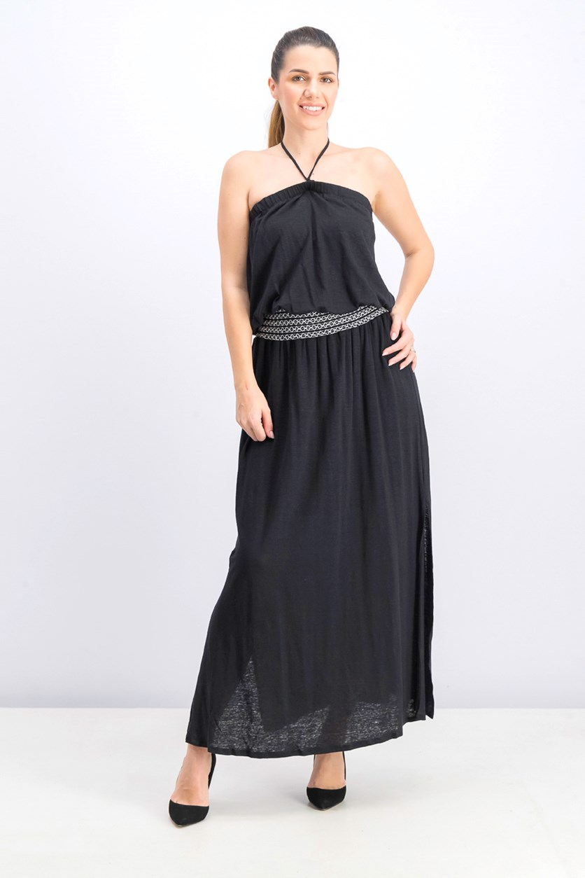 Women's Convertible Maxi Dress, Black