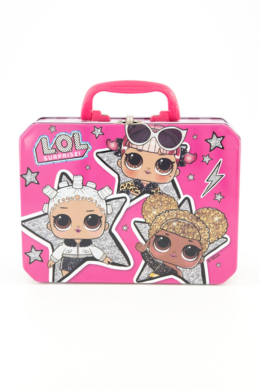 Lol Suprise Tin Lunch Box, Pink Combo