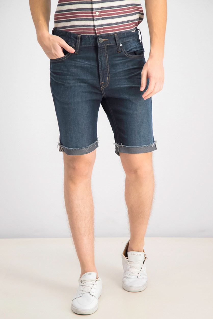 Men's Allan Comfort Stretch Denim Shorts, Dark Indigo Wash