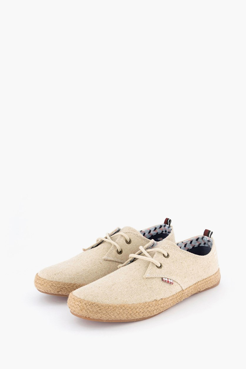 Men's New Prill Oxford Lace Up Sneaker, Natural Linen