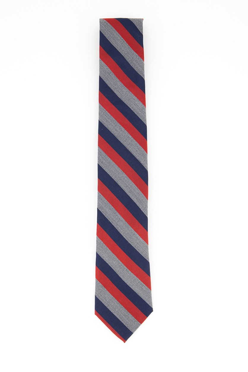 Men's Heather Stripe Tie, Heather Red