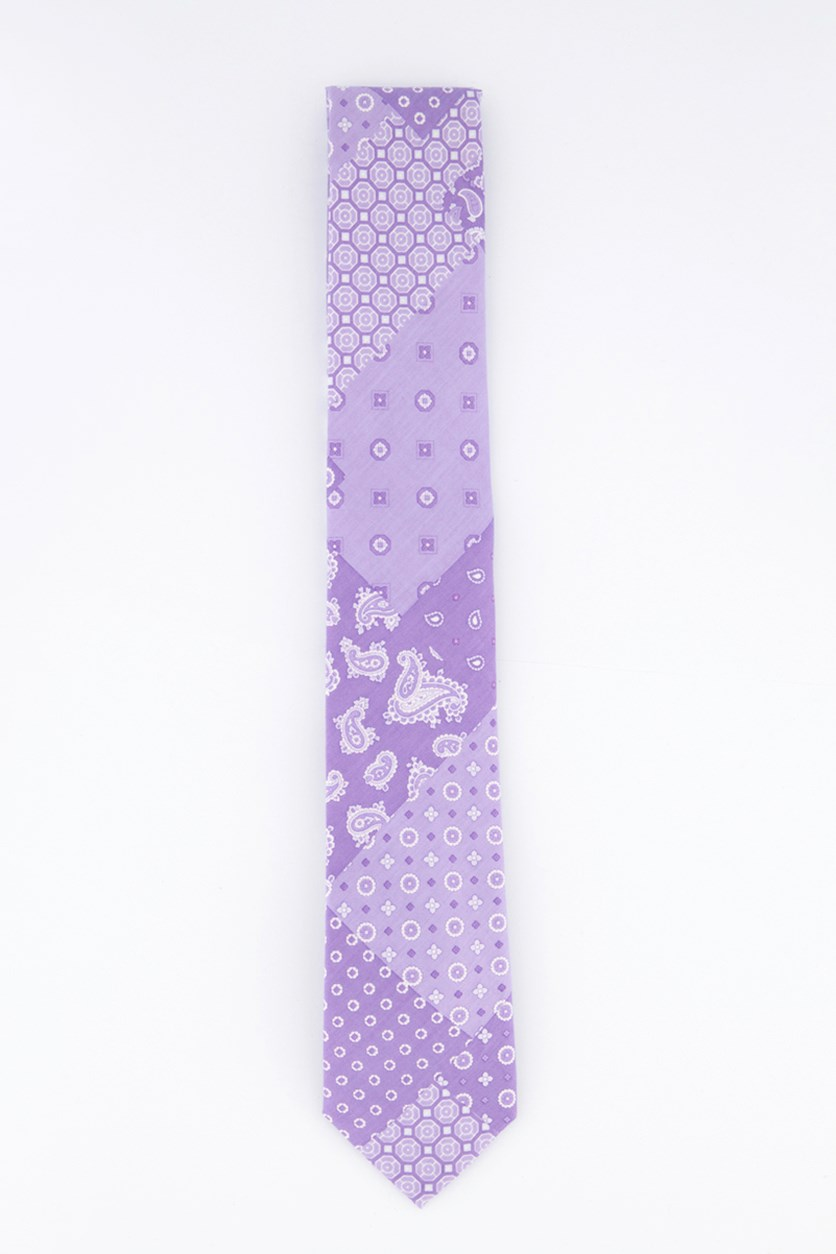 Men's Patchwork Neck Tie, Purple