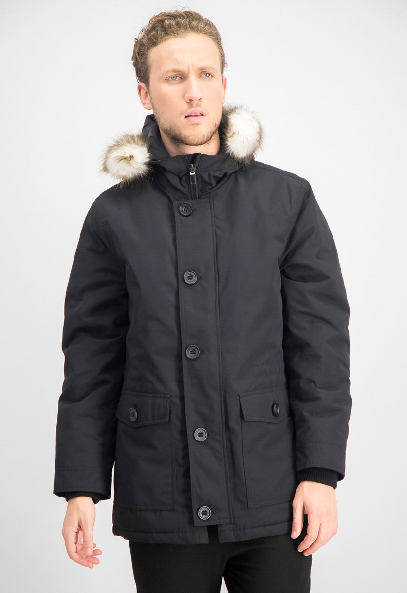 Men's Parka Jacket, Black