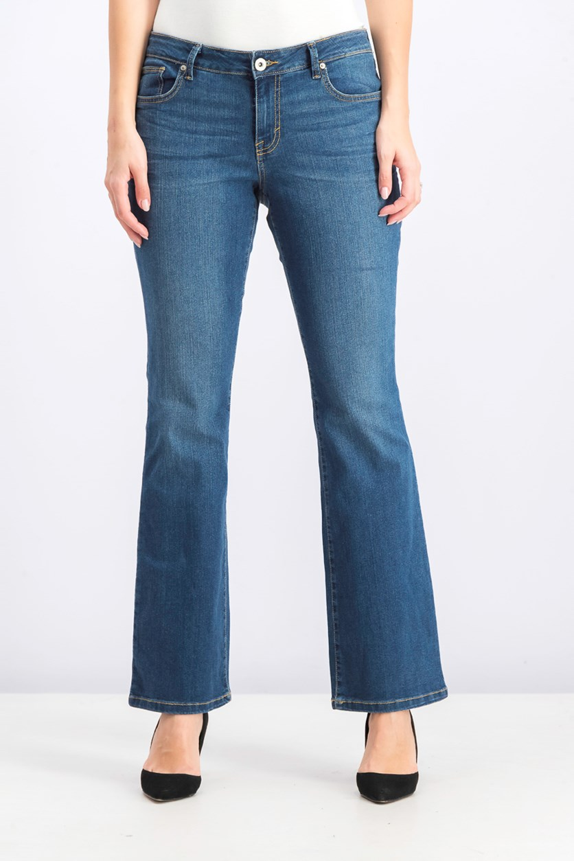 Women's Curvy-Fit Bootcut Jeans, Marine Wash