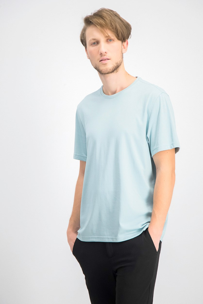 Men's Supima Blend Crewneck Short Sleeve T-Shirt, Pastel Blue
