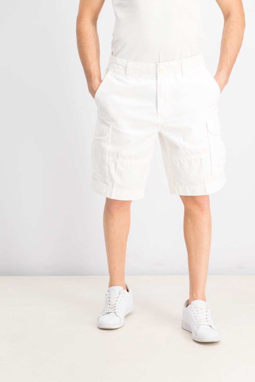 Mens Regular-Fit Cargo Shorts, Bright White