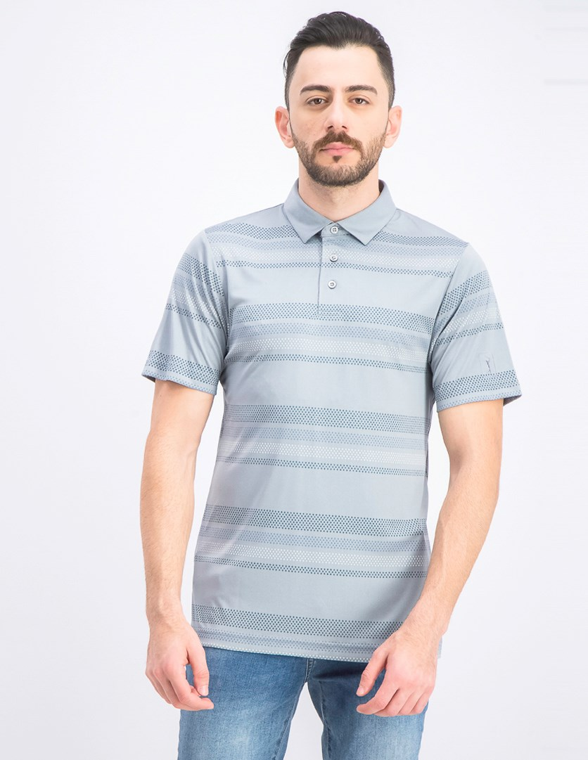 Men's Printed-Stripe Golf Polo, Tradewinds