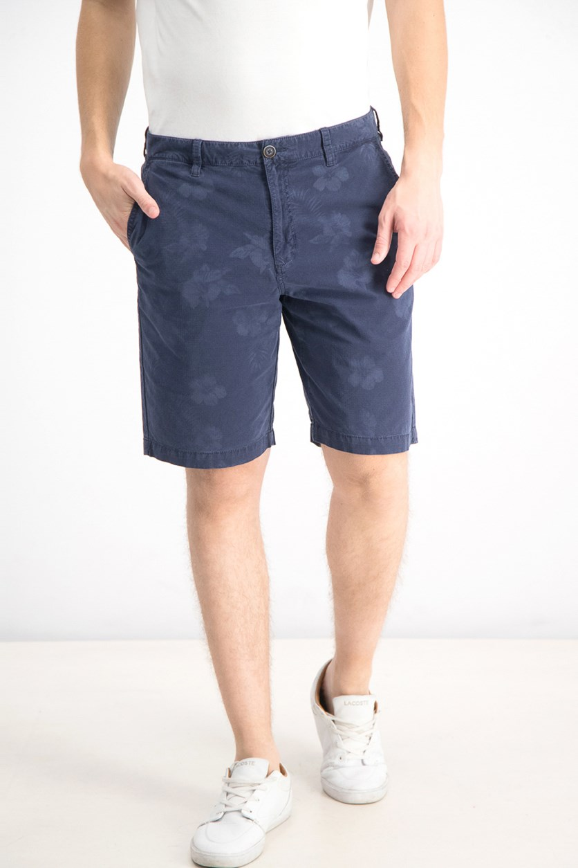 Men's Maraggio Stretch Floral-Print Ripstop Shorts, Navy Blue