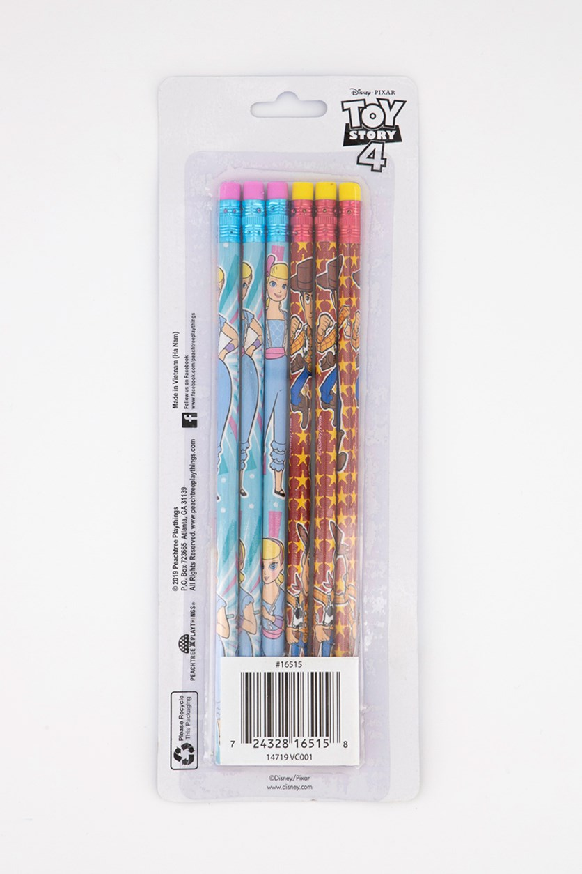 6 Pack Wood Pencil, Blue/Red