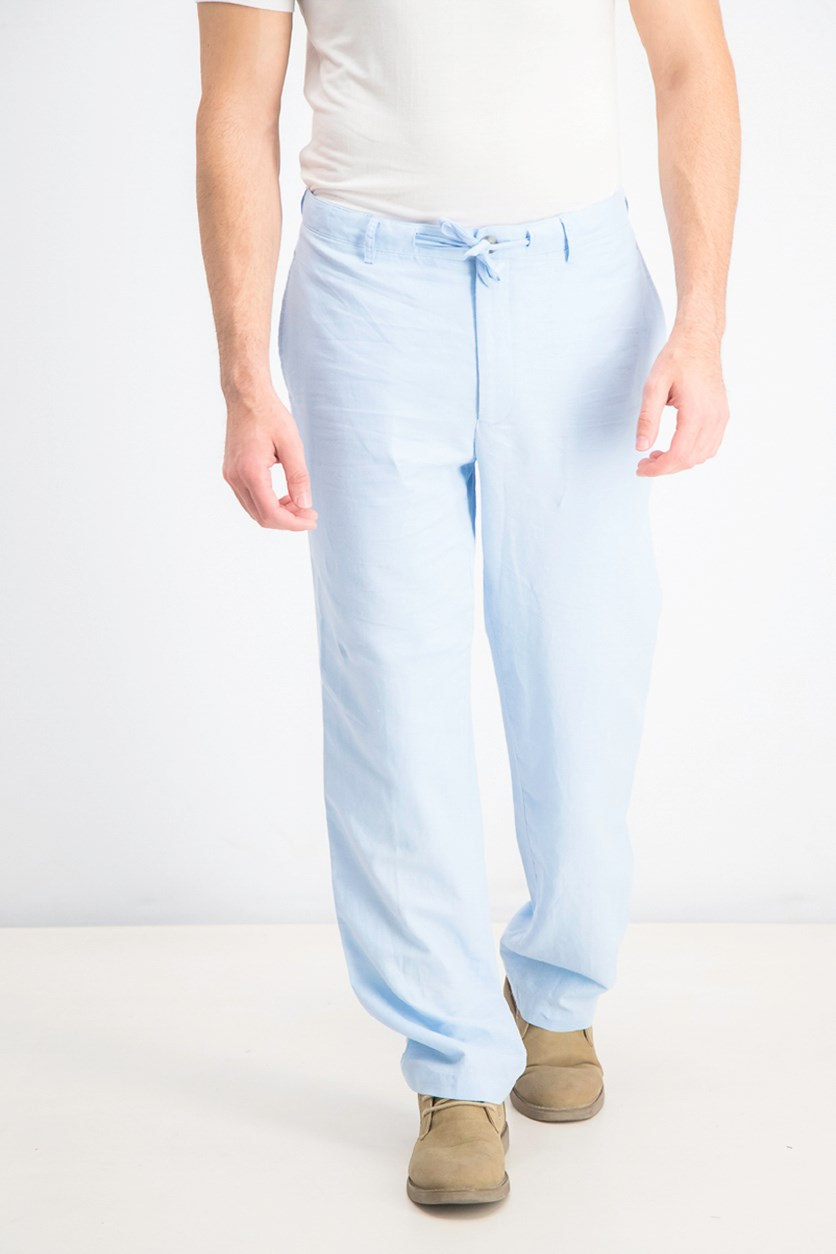 Men's Drawstring Pants, Light Blue