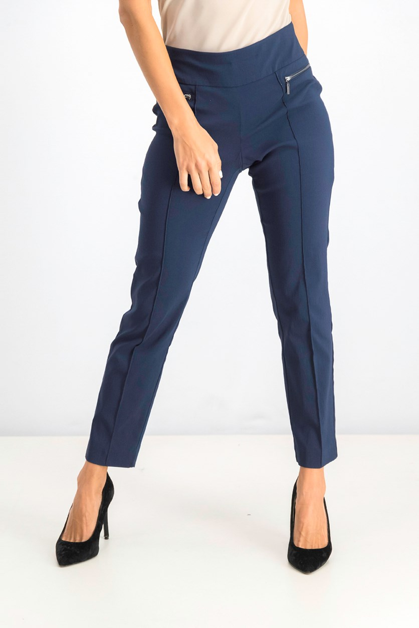 Women's  Pull-on Skinny Pants, Industrial Blue
