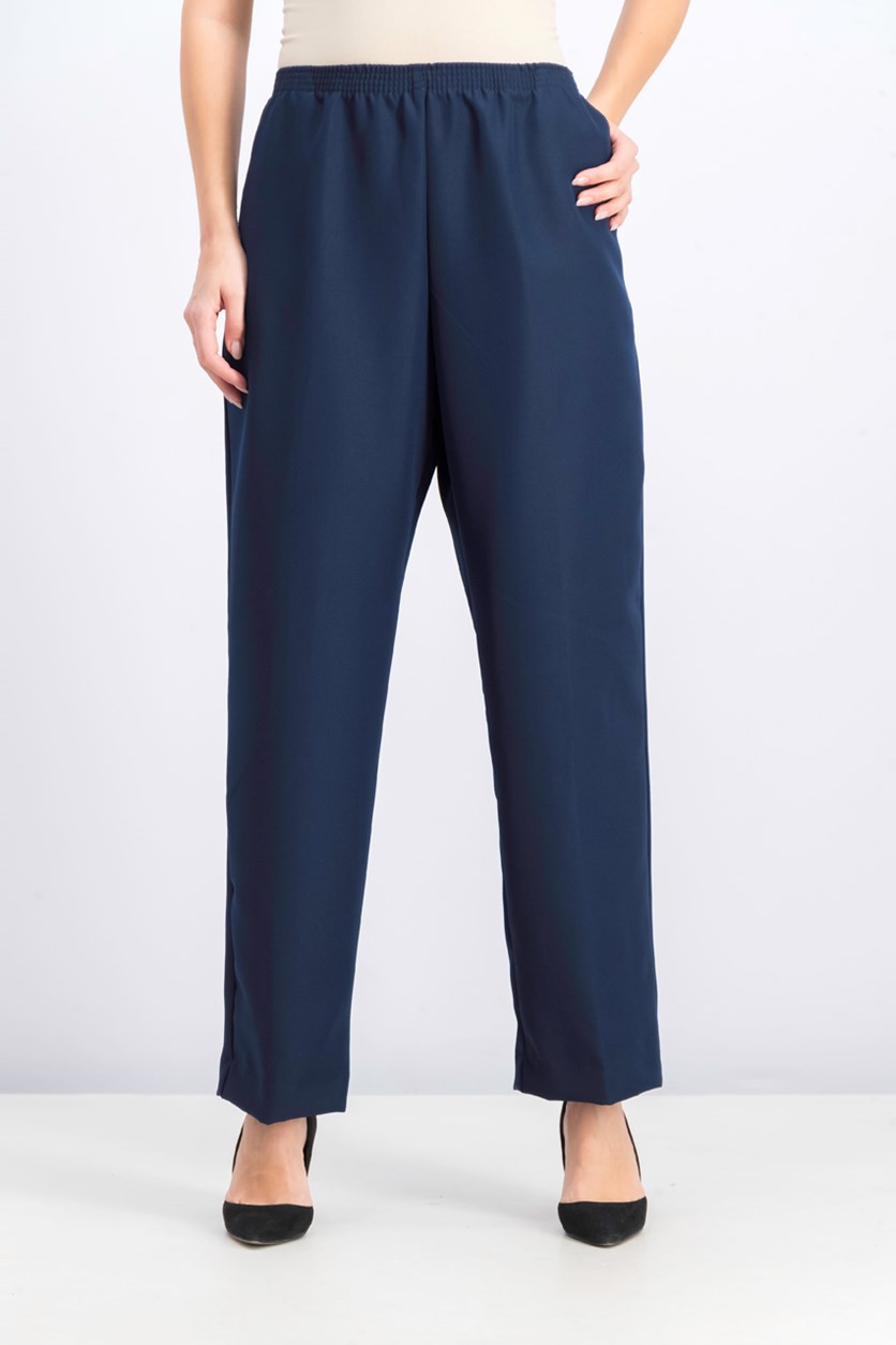 Womens Pull-On Pants, Intrepid Blue