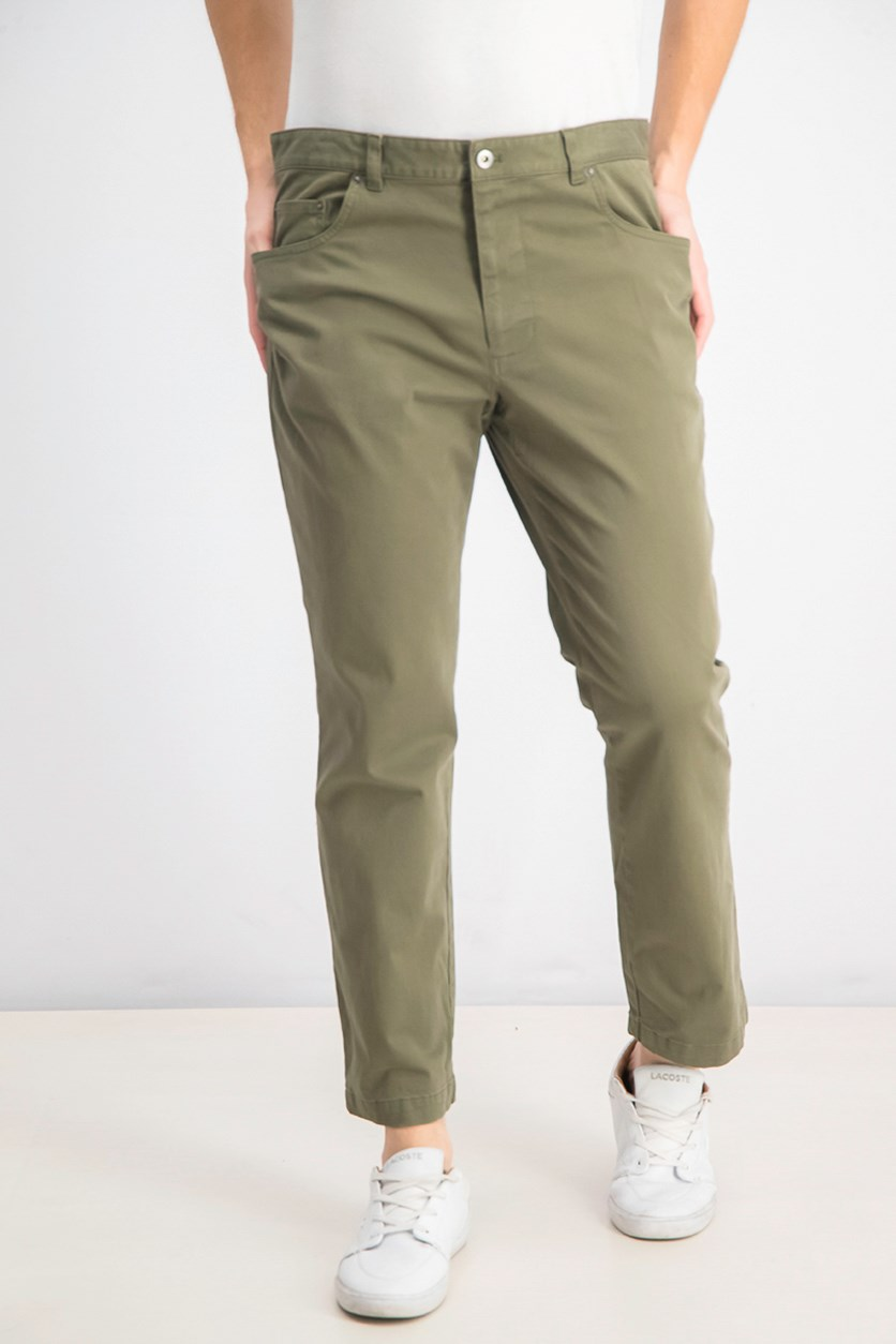 Men's Classic-Fit Stretch Pants, Winter Moss