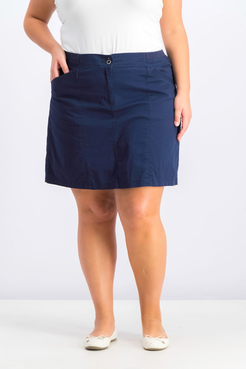 Women's Plus Size A-Line Skort, Intrepid Blue