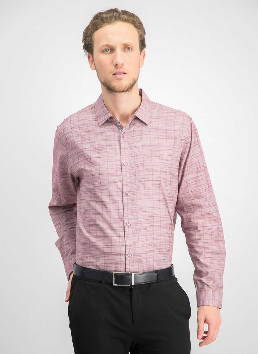 Men's Sloan Stretch Stripe Shirt, Maroon Combo