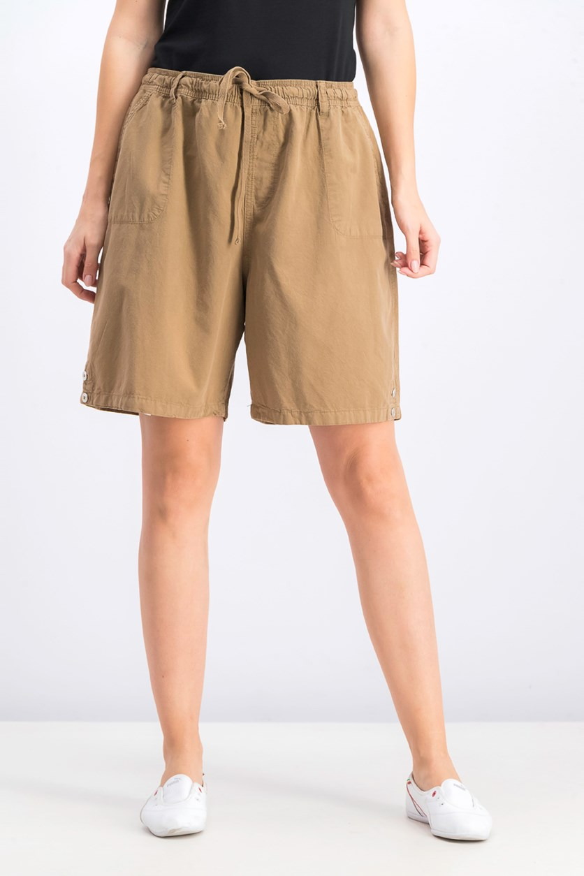 Women's Drawstring Shorts, Portobello