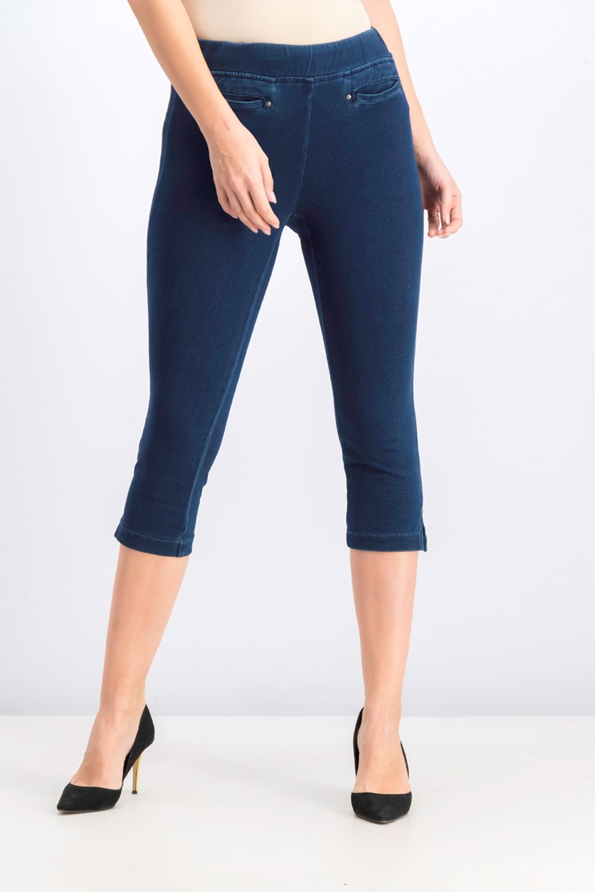 Women's Petite Pull-On Capri Jeans, Galaxy Wash