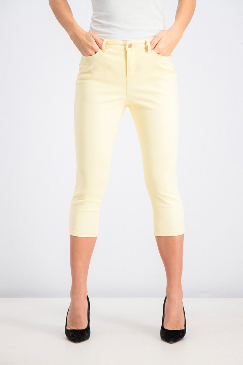 Women's Petite Bristol Capri Pants, Yellow
