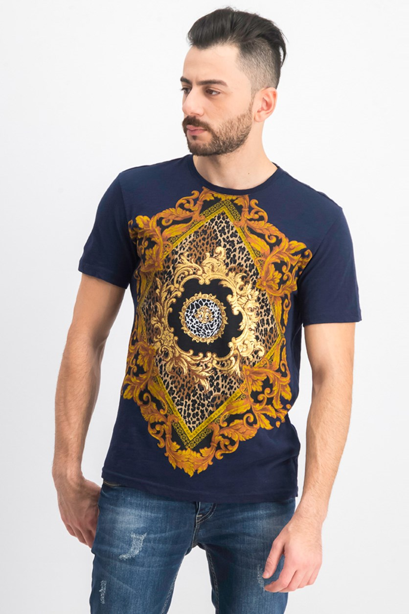 Men's Baroque Graphic T-Shirt, Basic Navy