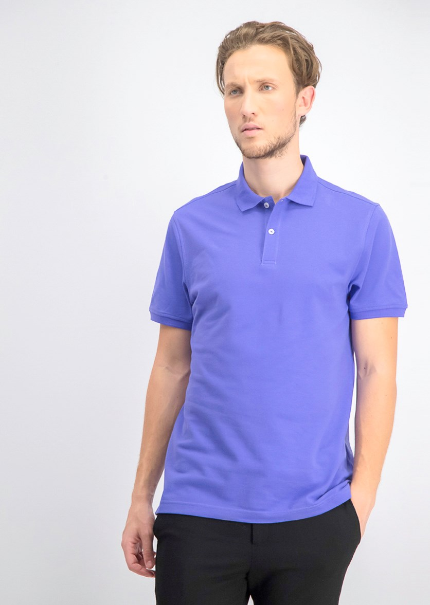 Men's Performance Polo Shirt, Antique Purple