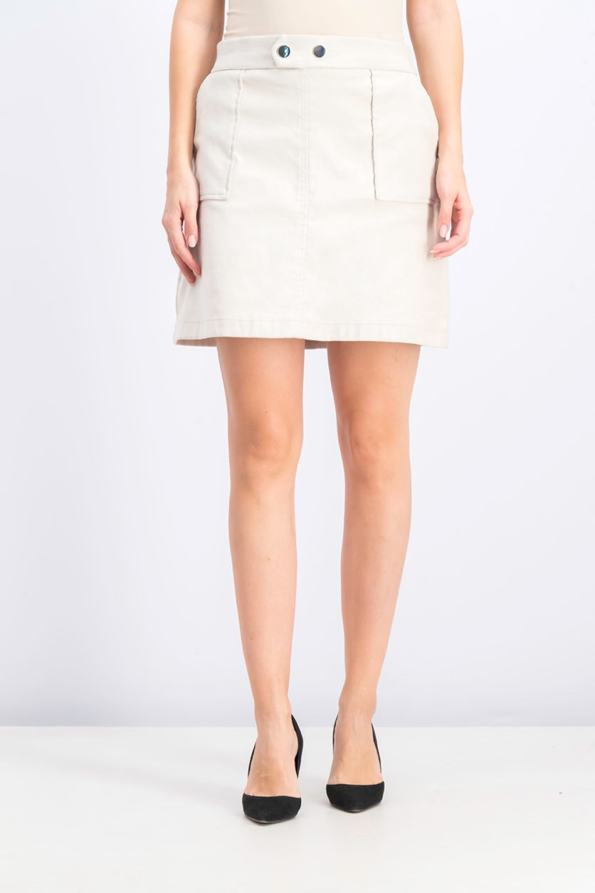 Women's Faux-Suede Mini Skirt, Sierra Sand