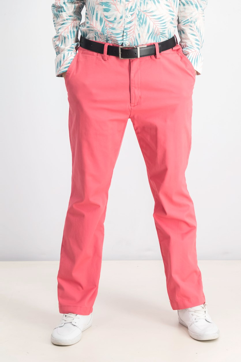 Men's Stretch Chinos, Summer Melon