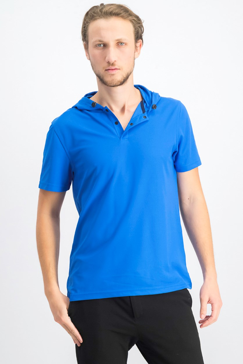 Men's Hooded Polo, Seaport