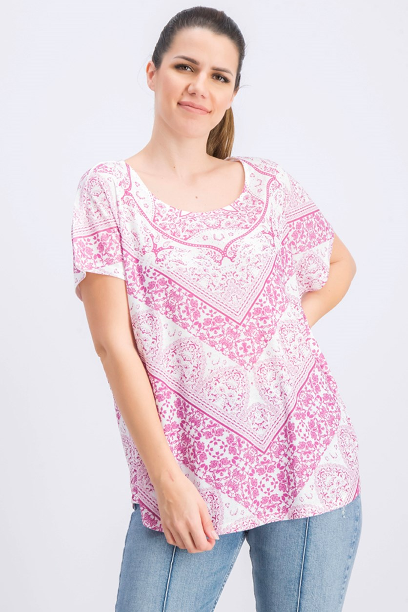 Women's Printed Top, Modern Foundation