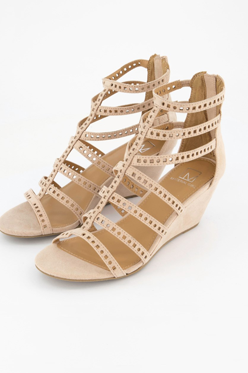 Women's Harriette Wedge Sandals, Blush/Beige