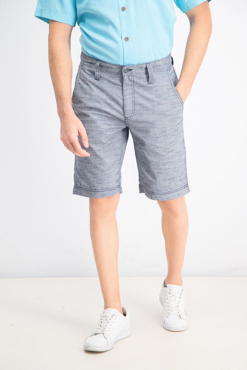 Men's Regular Fit Chambray Shorts, Basic Navy