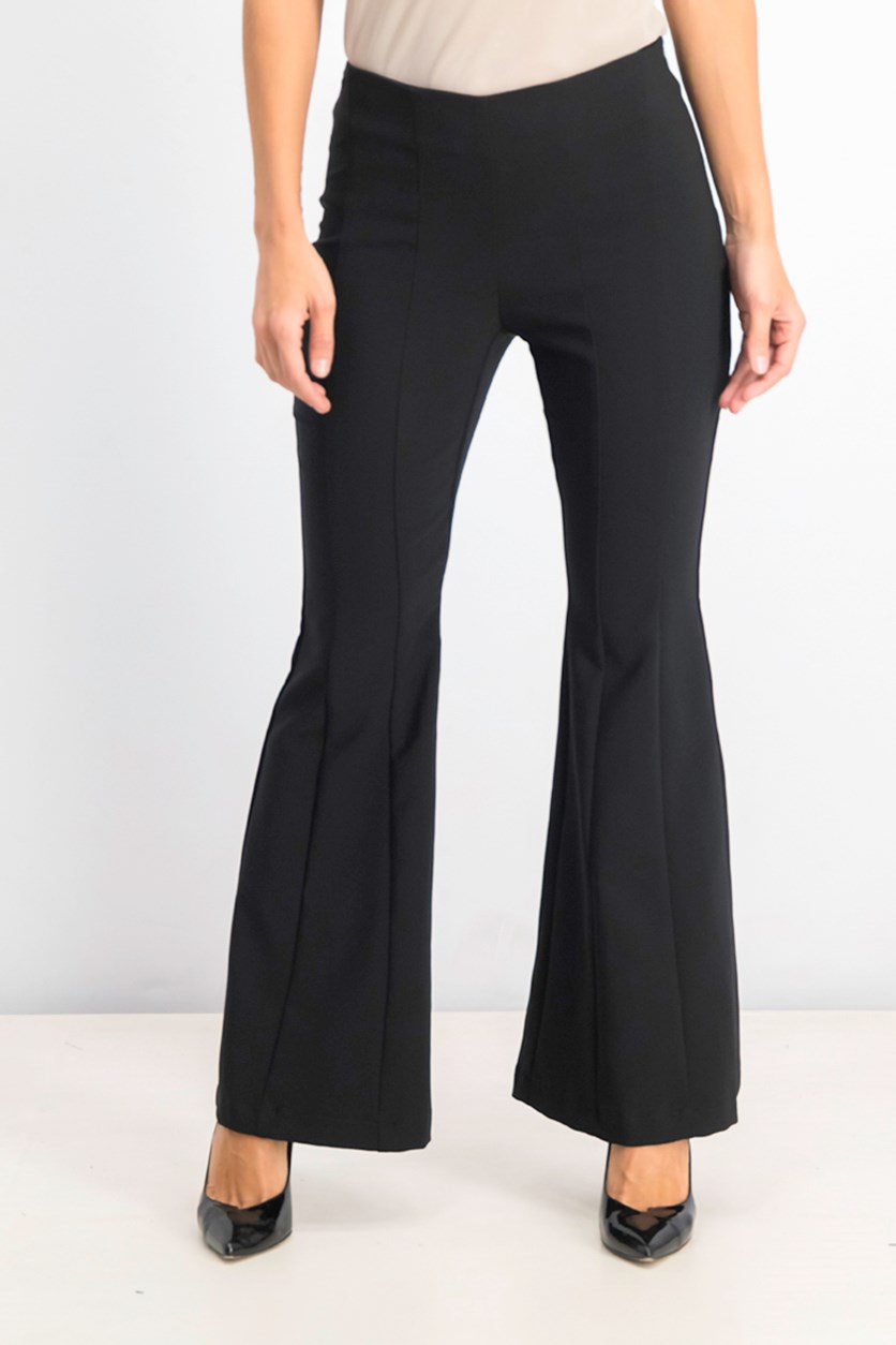 Women's Petite Wide-Leg Pants, Black