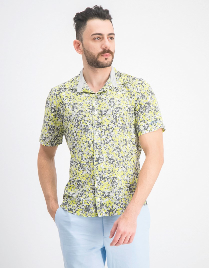 Men's Oakhill Floral Shirt, Bright White