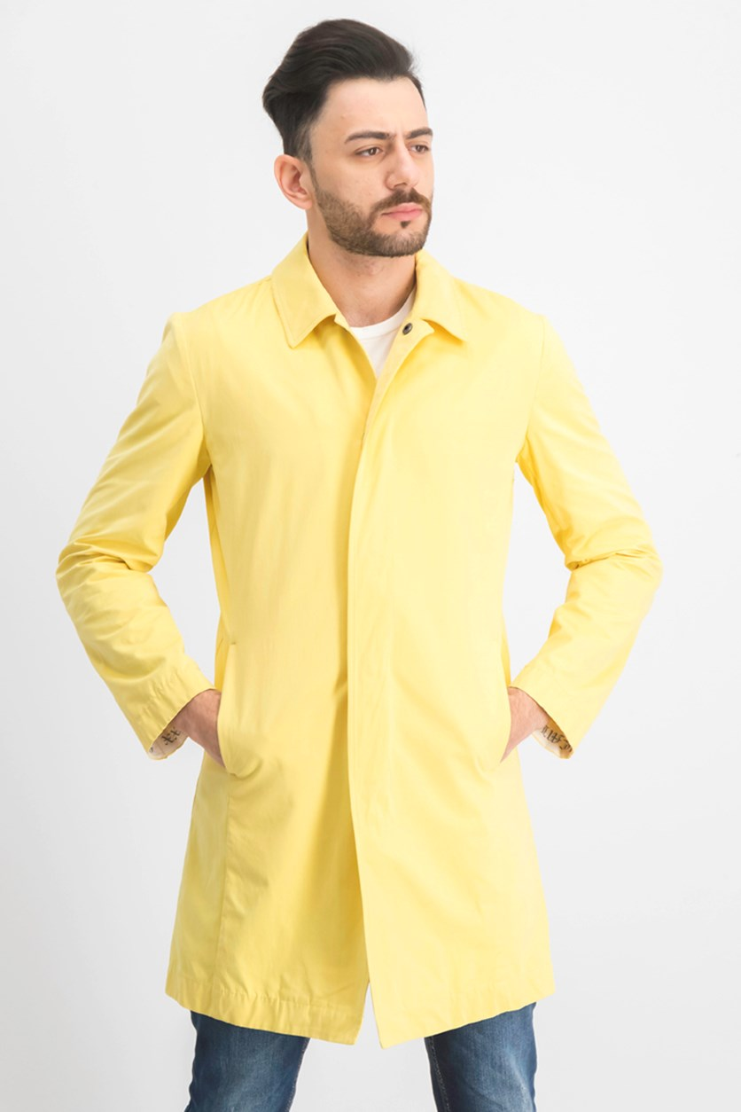 Men's Gothic Mac Trench Coat, Yellow Streak